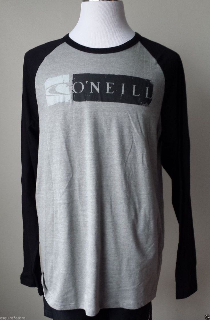 Design your own t shirt ebay - Details About O Neill Men Size L Long Sleeve Cotton Blend Graphic T Shirt New With Tag