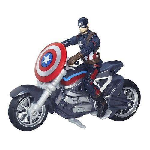 Captain America Action Figure and Motorcycle  #Hasbro
