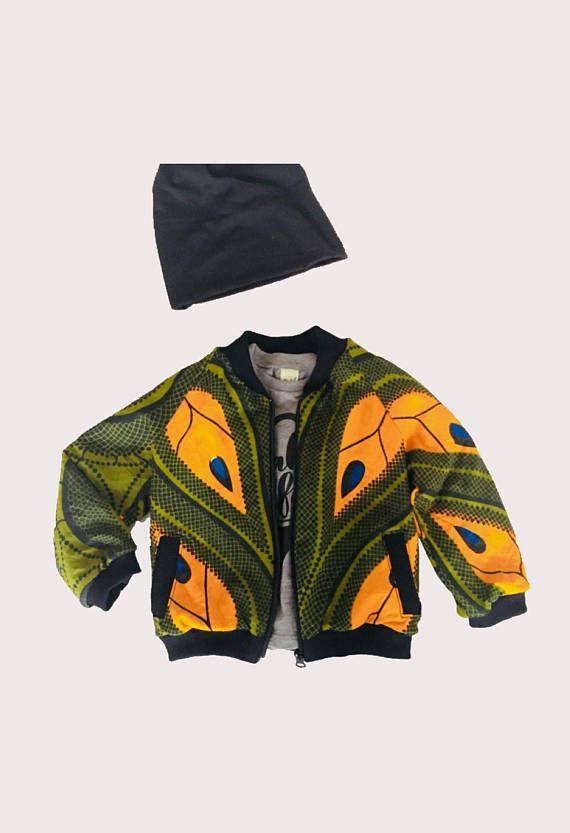 Toddler Bomber jacket African kids jacket Trendy kids jacket