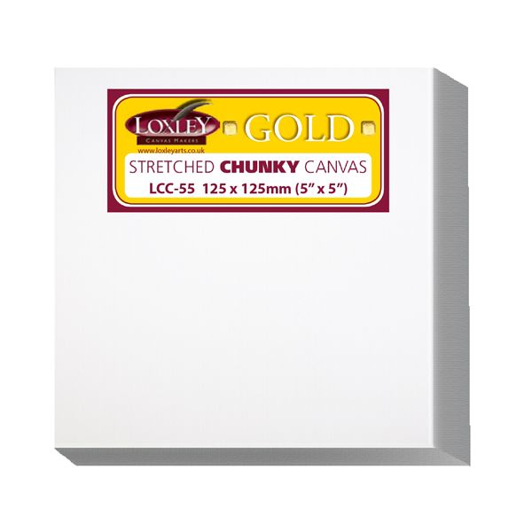 "Loxley Gold Chunky Stretched Art Canvas 5"" x 5"""