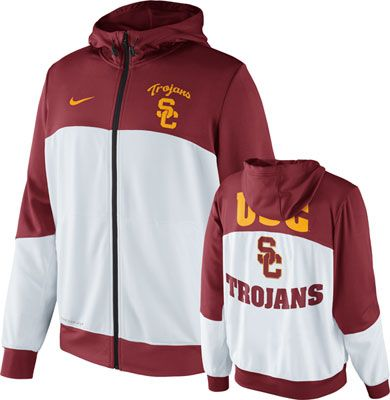 USC Trojans Nike Hyper Elite On-Court Basketball Hooded Sweatshirt