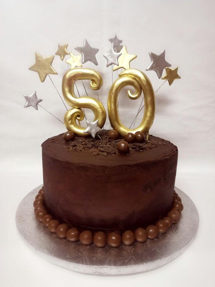 Chocolate ganache cake with gold