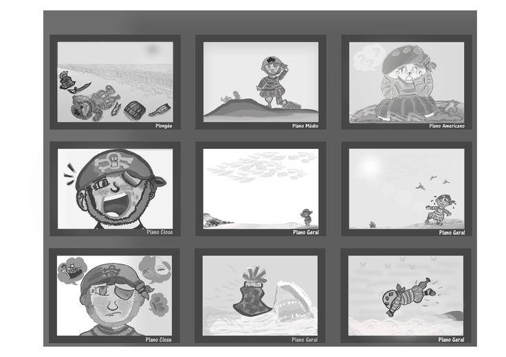 Storyboard EP. 1 da animação Tentapirata, arte criada usando Photoshop CC