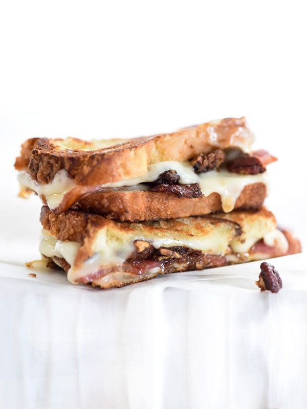 Brown Sugared Pecans and Sweet Bacon with Havarti Grilled Cheese | foodiecrush.com