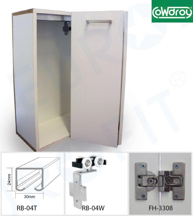 Rb 04 Cowdroy Concealed Bi Fold Sliding Door Track System Eurofit Hardware In 2020 Sliding Door Track Folding Door Hardware Folding Doors