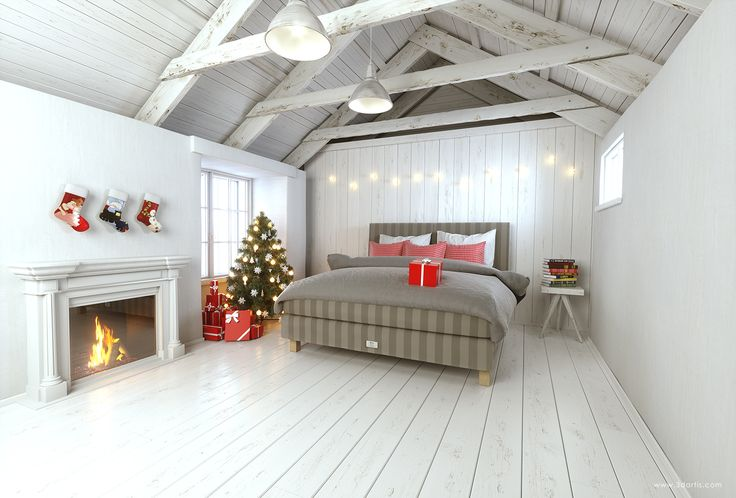 3D visualization - Saffron Bed Felicity Christmas Edition