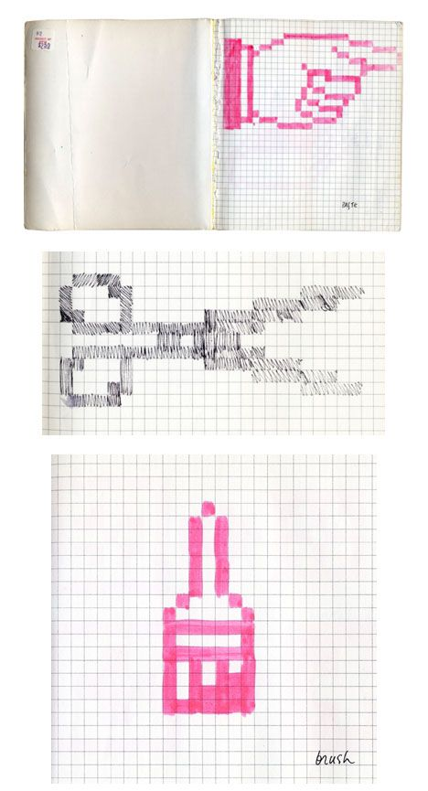 Objects: original mac icon sketches // susan kare