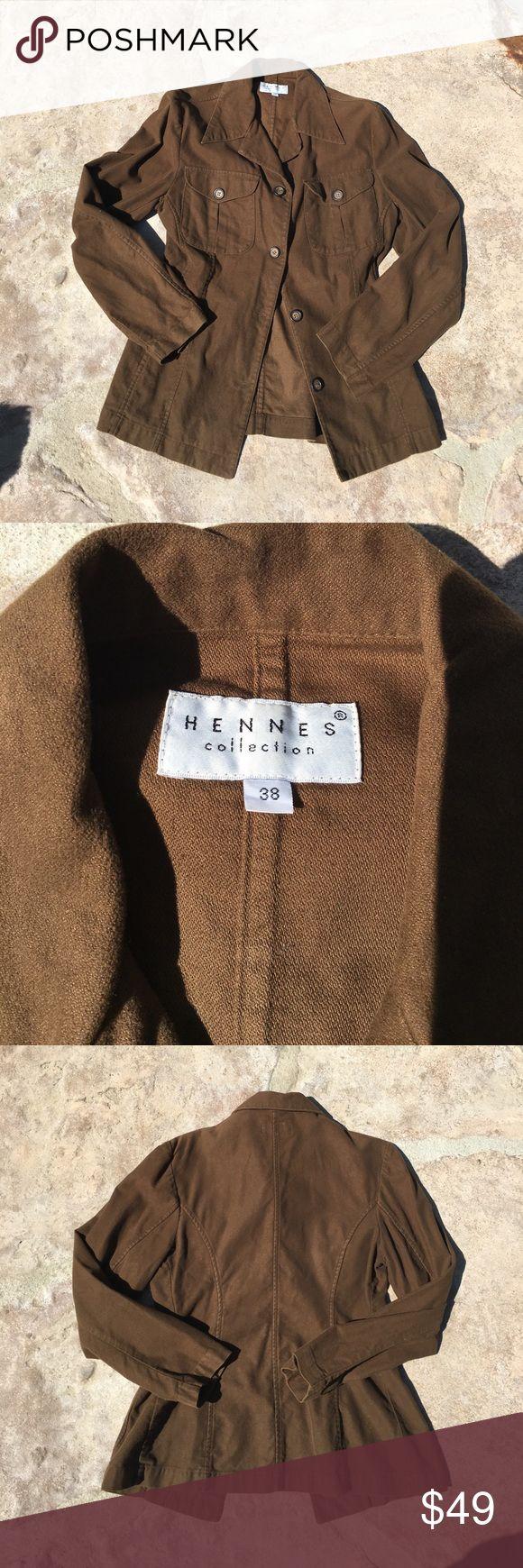 H&M Olive Green Blazer Sz S Excellent condition, 100% cotton H&M Jackets & Coats Blazers