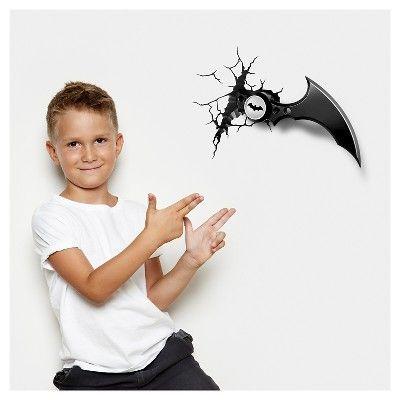 Warner Bros 3D Wall Nightlight Batman Batarang,