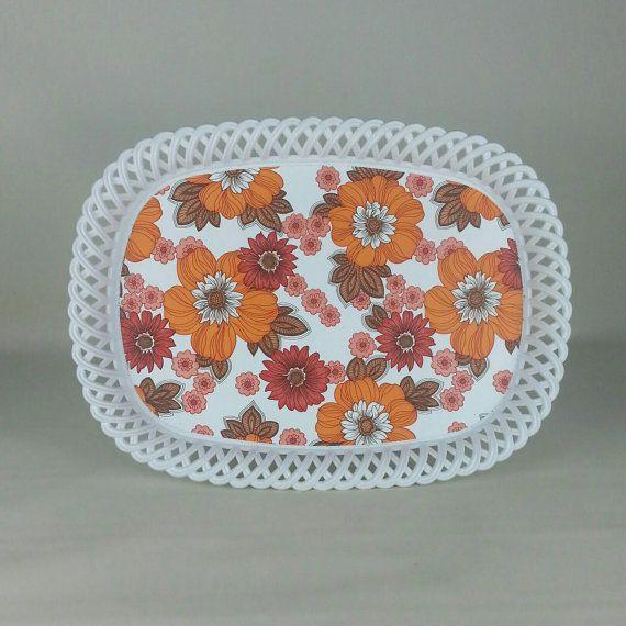 Flower Power  1960s Dialene Bettermaid plastic tray