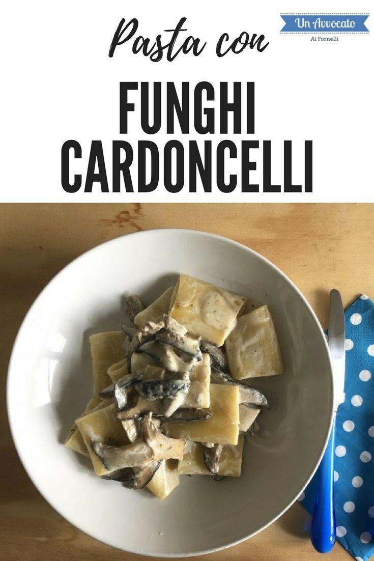 #pasta con #funghi #cardoncelli