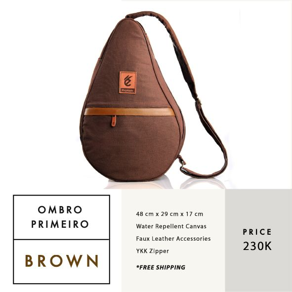 OMBRO PRIMEIRO BROWN  IDR 230.000  FREE SHIPPING ALL OVER INDONESIA    Dimension: 48 cm x 29 cm x 17 cm 23 Litre   Material: High Quality Canvas WR Faux Leather Accessories Leather Accessories YKK Zipper  #GoodChoiceforGoodLooking