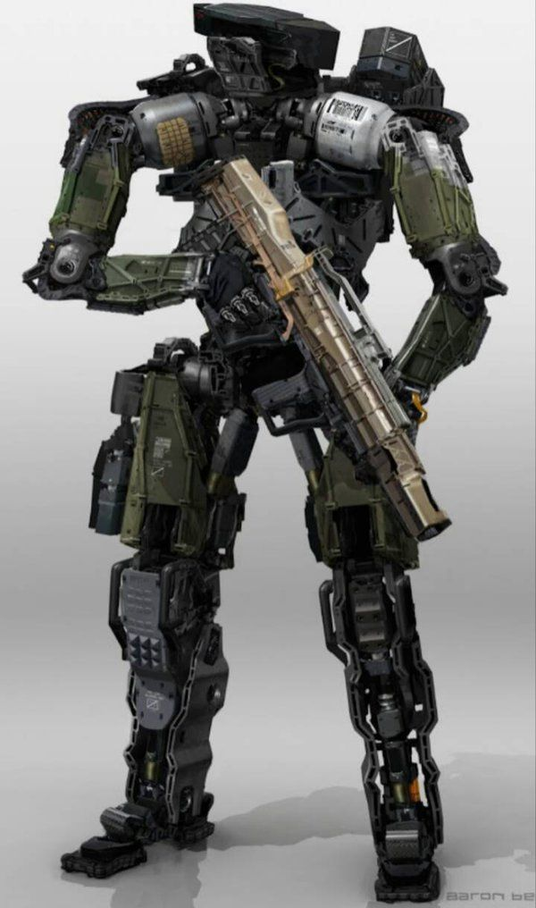 C6 Robot with the R3K Energy Assault Rifle by Karma45