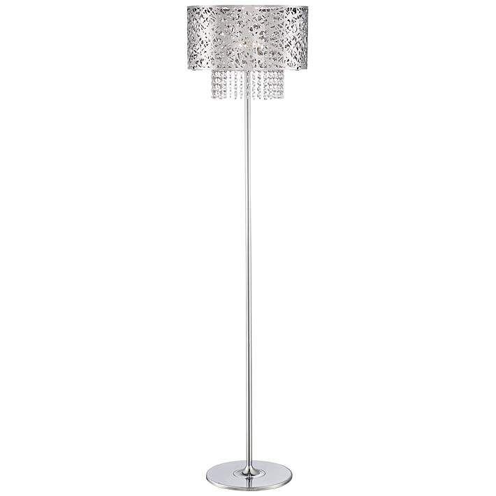 The 25 best chandelier floor lamp ideas on pinterest designer possini euro chrome nest crystal chandelier floor lamp 4d354 lamps plus mozeypictures Gallery