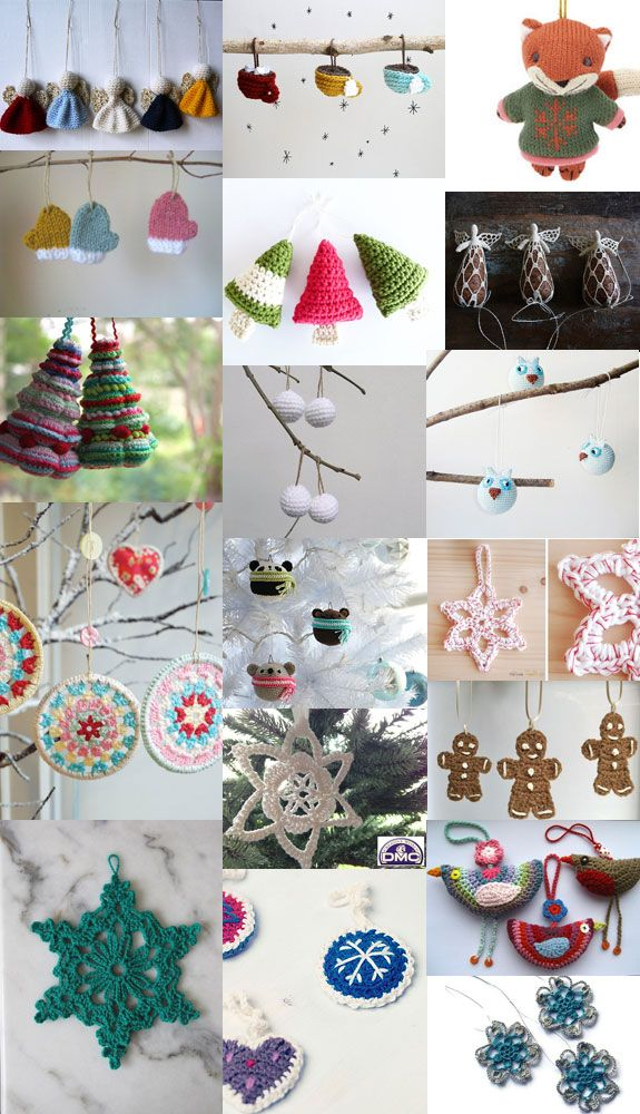 Collection of Christmas ornament patterns: http://www.simplycrochetmag.co.uk/crochet/crocheted-christmas-tree-121299
