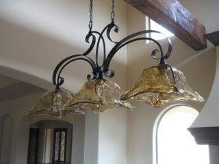 Kitchen island light fixture - mediterranean - kitchen lighting and cabinet lighting - sacramento - by Custom Homes by Miller