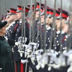 Duchess of Cornwall at the Sovereign's Parade at Royal Military Academy Sandhurst
