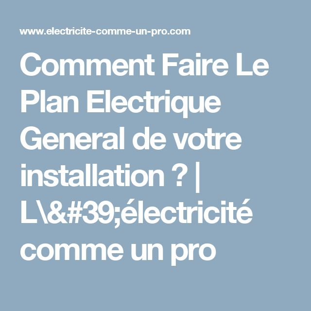 74 best Électricité générale images on Pinterest DIY, Projects and