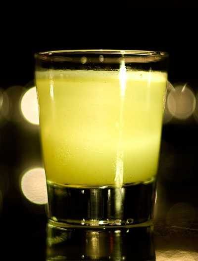 Charmane's Star - The Summit Bar  russian standard vodka, cucumber, shiso leaf, fresh lime, Vietnamese cinnamon infused agave, rhubarb bitters