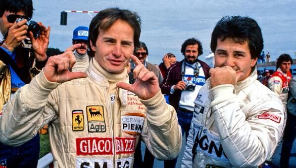 Gilles Villeneuve at the Canadian Grand Prix with his brother Jacques