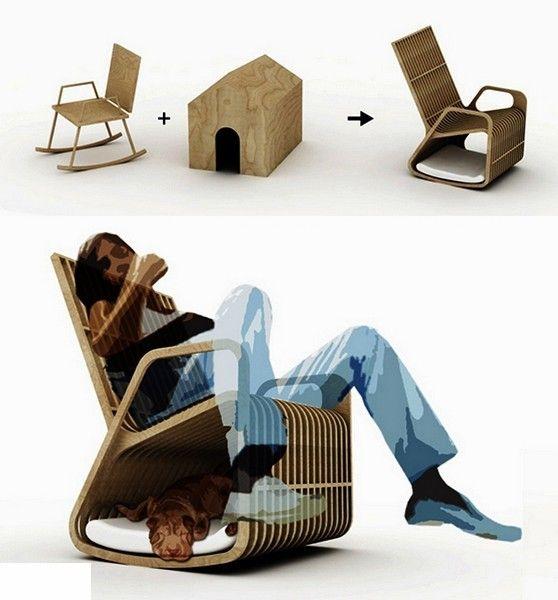 Туда, сюда, назад... Дизайнерские кресла-качалки, обзор необыкновенной мебели для дома