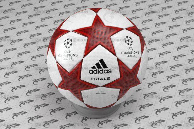 3D Champions League Ball Model .c4d, .obj, .3ds, .fbx, .ma, .lwo 63514