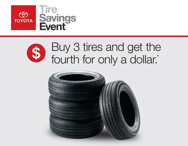 Visit us for the Toyota Tire Savings Event going now.