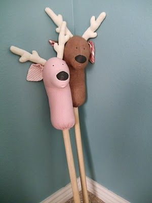reindeer hobby horse - love these but there is no pattern attached, have to get clever