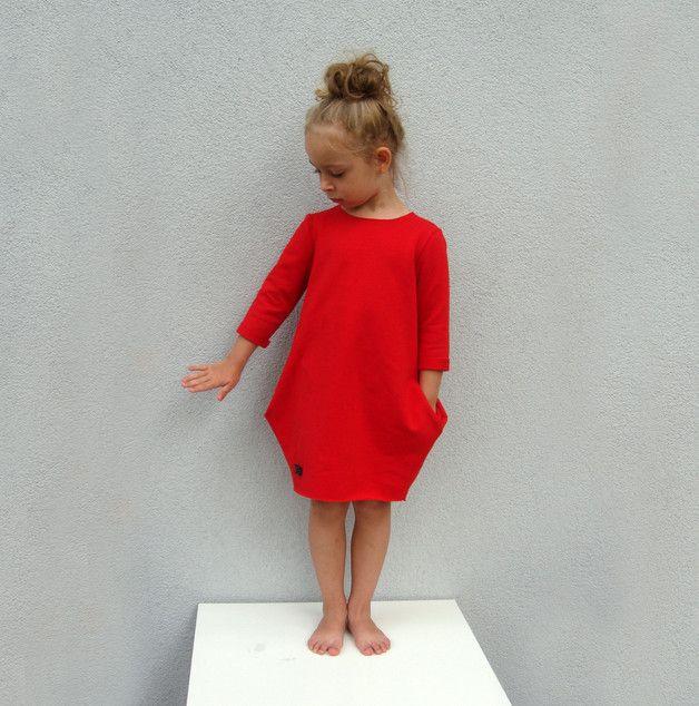 Sukienka dresowa - kolory - millupa - Ubranka dla dzieci