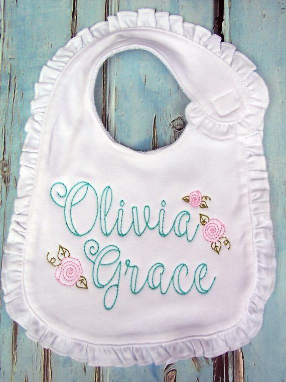 Personalized Baby Bib Personalized Burp Cloth Monogrammed Etsy Personalized Baby Bibs Monogrammed Baby Bibs Personalized Baby Gifts