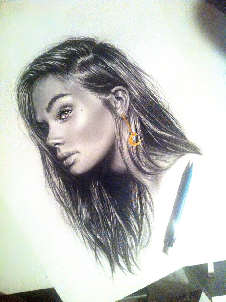Pencil drawing with gold detail portrait my art pinterest for Mimi lee chinese