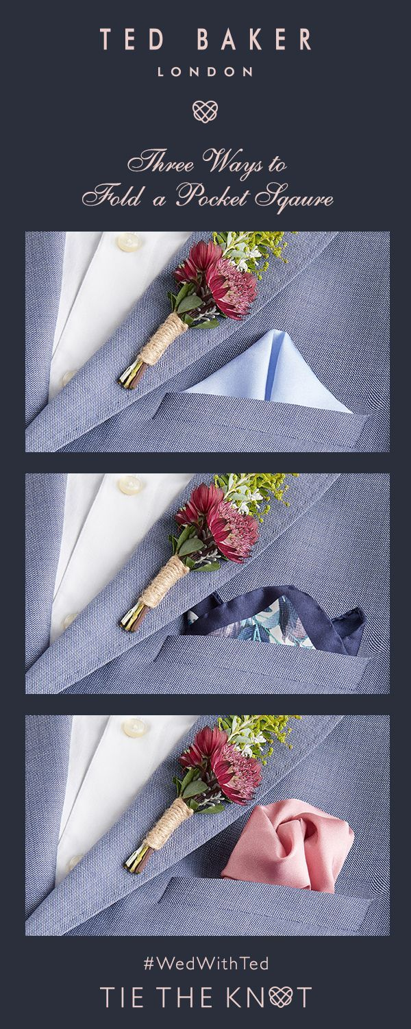 Ted's Three Ways to Fold a Pocket Square