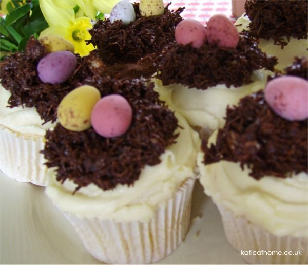 10 best easter treats images on pinterest easter treats craft easter nest cupcakes recipekatie craig katiecraig negle Choice Image