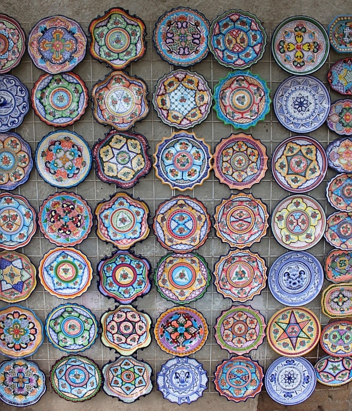 Mexican Plates. -Todos Santos, Mexico.  Photo credit goes to CB.