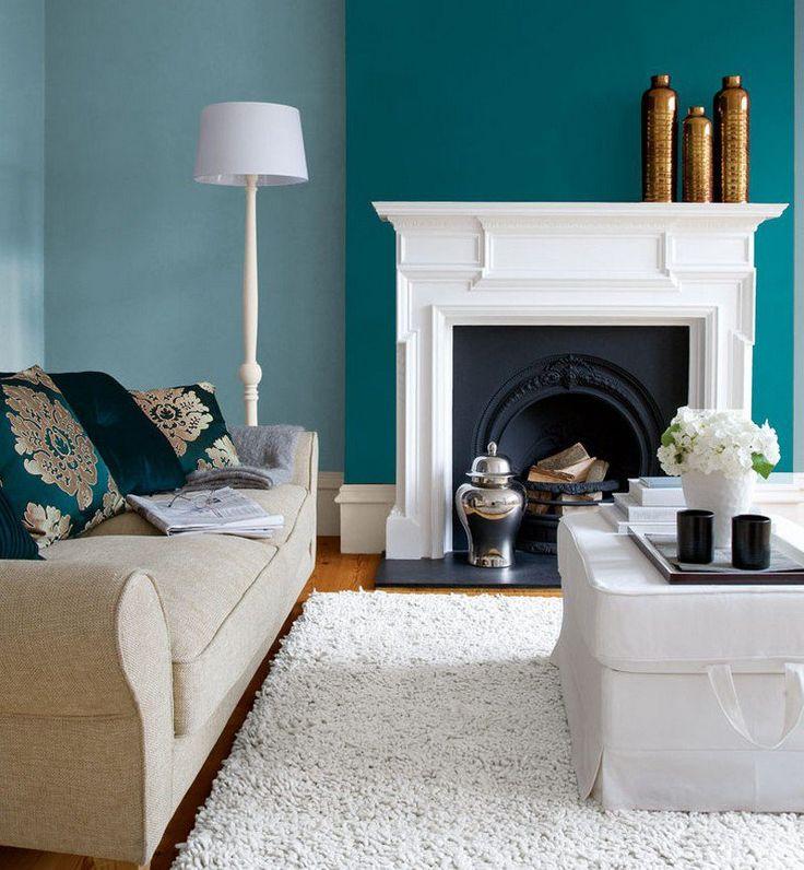 chemin e classique et peinture murale en 2 nuances bleu turquoise appart pinterest turquoise. Black Bedroom Furniture Sets. Home Design Ideas
