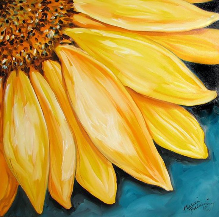 yellow flower paintings names