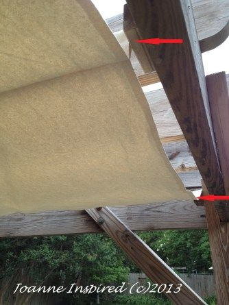 Viola! Really easy sewing: cost-saving DIY #pergola #canopy