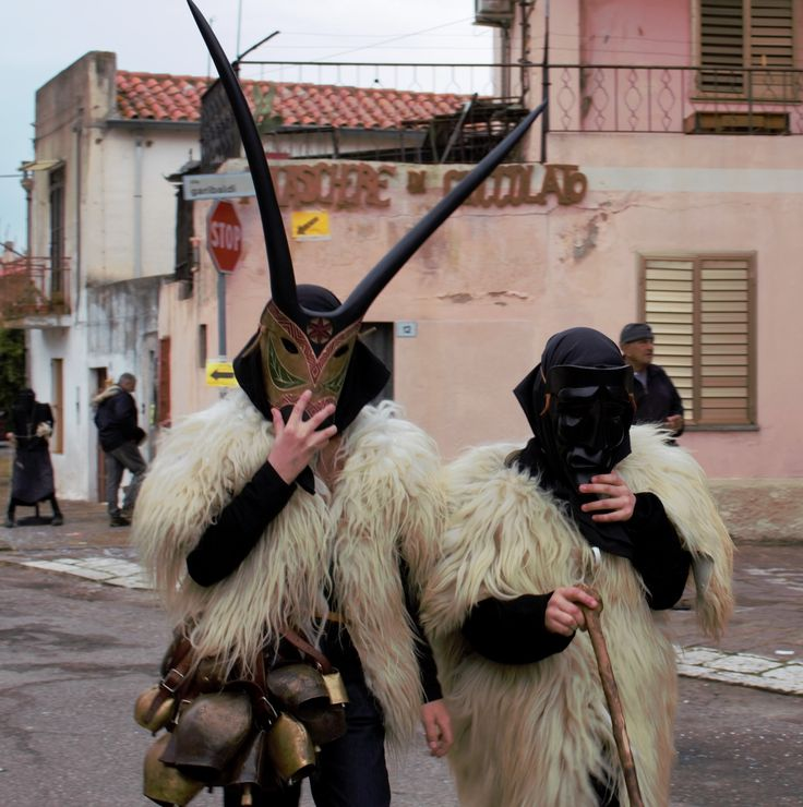 Boes at Carnival in Ottana...