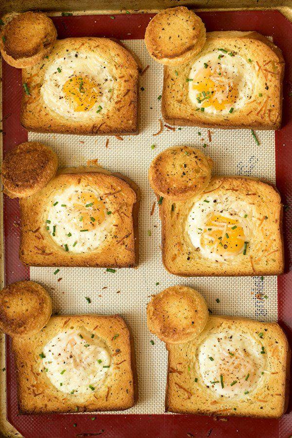 Sheet Pan Eggs In A Basket Recipe Eggs In A Basket Healthy