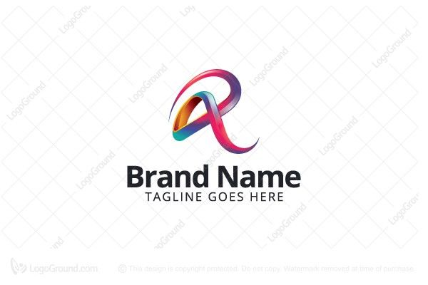 Logo for sale: Colorful Letter R Logo