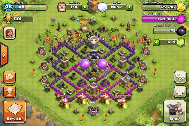 Clash of Clans Town Hall level 7 Base Design