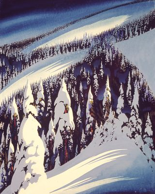 Mountain in Snow by Eyvind Earle