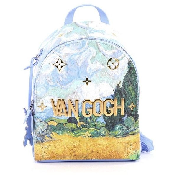 Pre-Owned Louis Vuitton Palm Springs Backpack Limited Edition Jeff... (€2.645) ❤ liked on Polyvore featuring bags, backpacks, blue, blue canvas backpack, metallic backpacks, louis vuitton bags, strap backpack and print canvas backpack