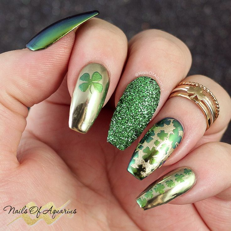 209 best St. Patrick\'s Day Nail Art images on Pinterest | Nail ...