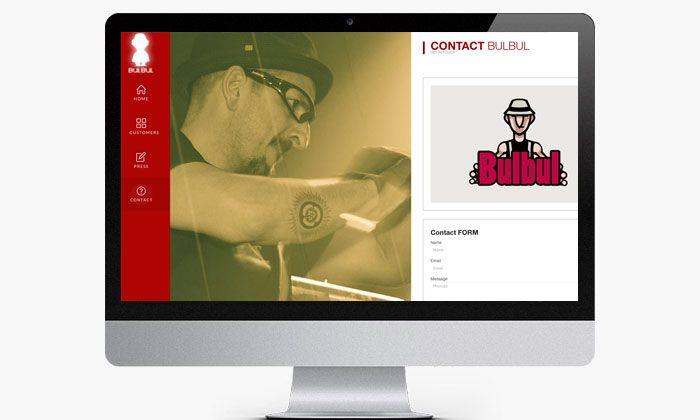 http://www.basicum.es/portfolio-item/diseno-web-musicos-bulbul/ Diseño web de página de contacto músico percusionista BulBul creado por Basicum.es