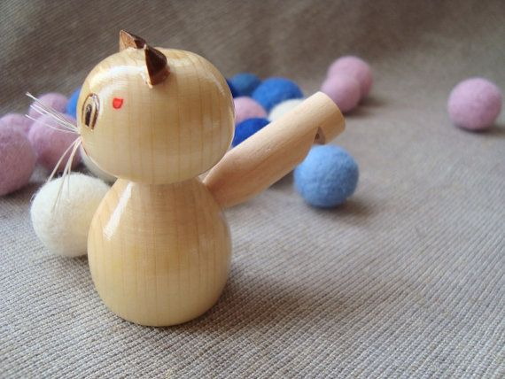 Wooden whistle. Wooden cat whistle. Wooden van WoodenOKshop op Etsy