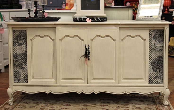 pics of vintage diy radio cabinets | Old Cabinet Becomes Beautiful Buffet - A Sunday Afternoon