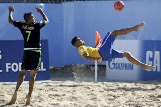 Blog Esportivo do Suíço:  Brasil goleia México na estreia da Copa do Mundo de futebol de areia