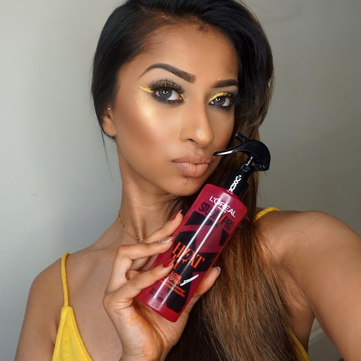 Preen.Me VIP Sayma keeps her looks smooth and sleek using her gifted L'Oreal Paris Studio Pro HEAT IT Hot & Big Styling Spray. #WhoDoYouWantToBeToday? Click through to reinvent yourself.