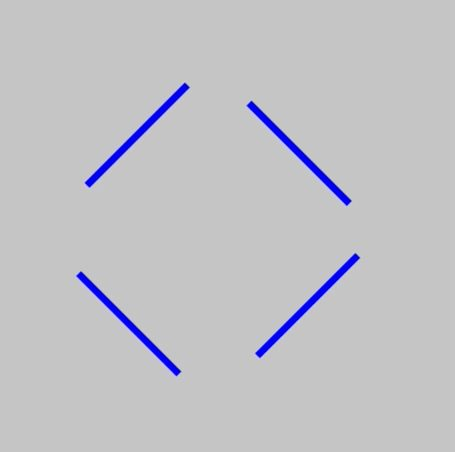 These blue lines look like they're moving in pairs. | 17 Mind-Mangling Optical Illusion GIFs